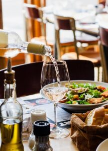 Restaurant, food and wine